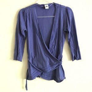 Alo Yoga Purple Lightweight Layering Wrap Knit Top